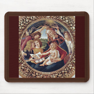 Mary And Christ Child And Five Angels Tondo Mouse Pad