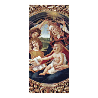 Mary And Christ Child And Five Angels Tondo Custom Rack Cards