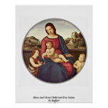 Mary And Christ Child And Two Saints By Raffael Posters