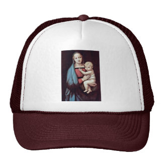 Mary And Christ Child By Raffael (Best Quality) Trucker Hat