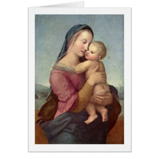 Mary And Christ Child By Raffael Greeting Card
