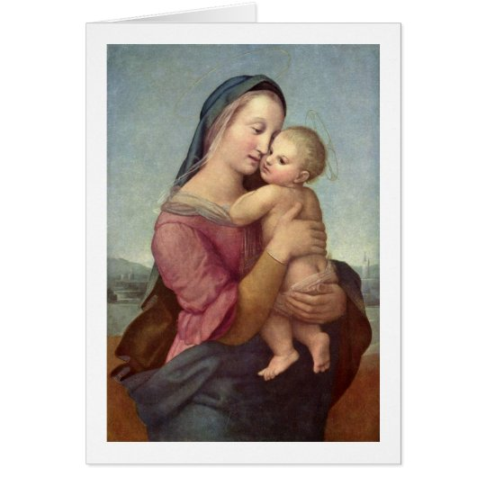 Mary And Christ Child By Raffael Card