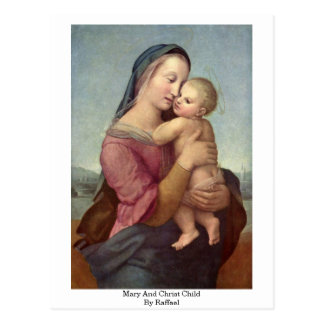 Mary And Christ Child By Raffael Postcard