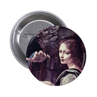 Mary And Christ Child St. John The Baptist As A Ch Pinback Button