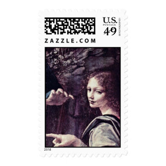 Mary And Christ Child St. John The Baptist As A Ch Stamp