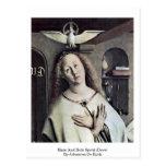 Mary And Holy Spirit (Dove) By Johannes De Eyck Postcard