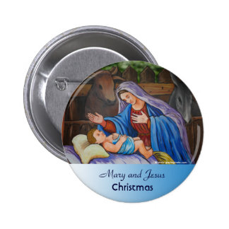 Mary and Jesus 2 Inch Round Button