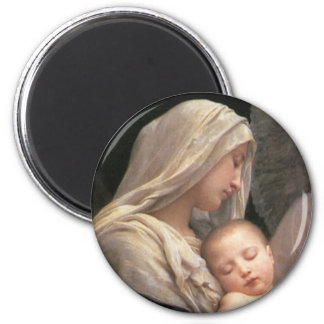 Mary and Jesus 2 Inch Round Magnet