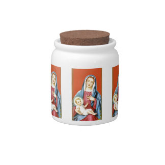 Mary and Jesus Candy Jars
