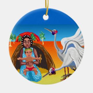 Mary and Jesus - ethnic Ceramic Ornament