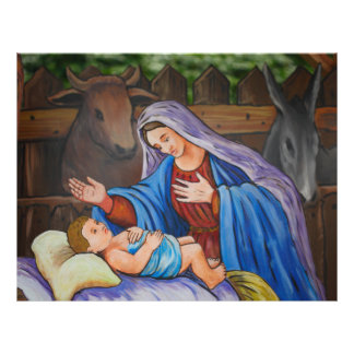 """Mary and Jesus 8.5"""" X 11"""" Flyer"""