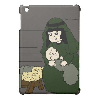 mary and jesus in green iPad mini cover