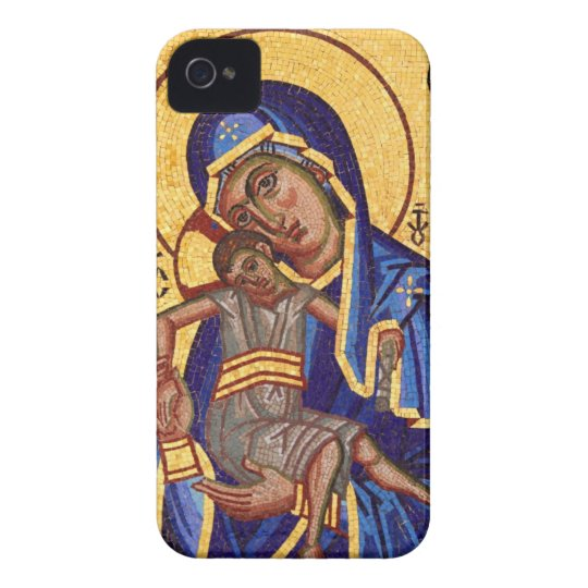 Mary and Jesus Mosaic iPhone 4 Case