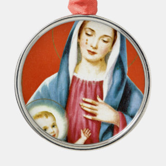 Mary and Jesus Christmas Ornaments