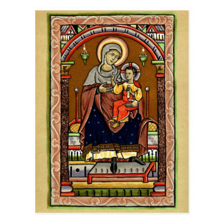 Mary and Jesus Post Card