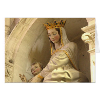 Mary and Jesus Statue, Levroux, France Card