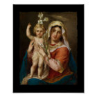 Mary and Jesus with Lily Poster