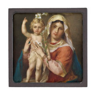 Mary and Jesus with Lily Premium Gift Boxes