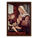 Mary And John The Baptist, Pray To The Christ Chil Greeting Card