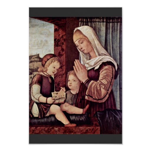 Mary And John The Baptist, Pray To The Christ Chil Posters