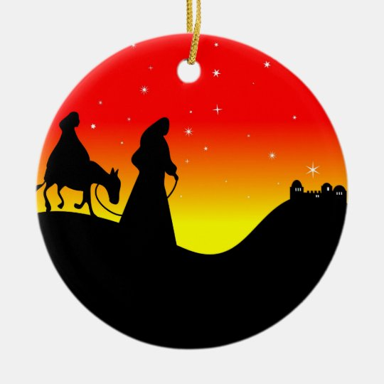 Mary and Joseph Ceramic Ornament