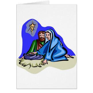 Mary and Joseph Christian artwork Card