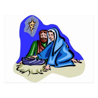 Mary and Joseph Christian artwork Postcard