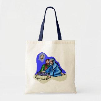 Mary and Joseph Christian artwork Tote Bag