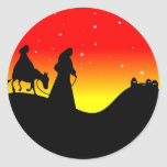 Mary and Joseph Round Stickers