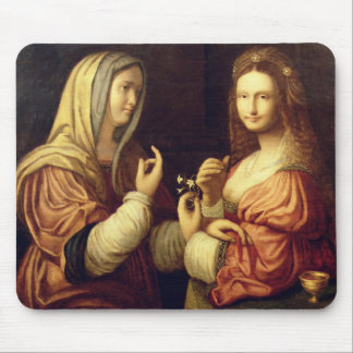 Mary and Martha (oil on panel) Mouse Pad
