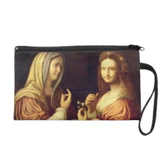 Mary and Martha (oil on panel) Wristlet Purse