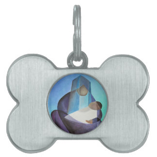 Mary and Messiah Pet Name Tag