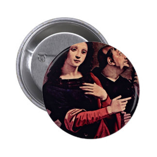 Mary And Saints  By Piero Di Cosimo (Best Quality) Button