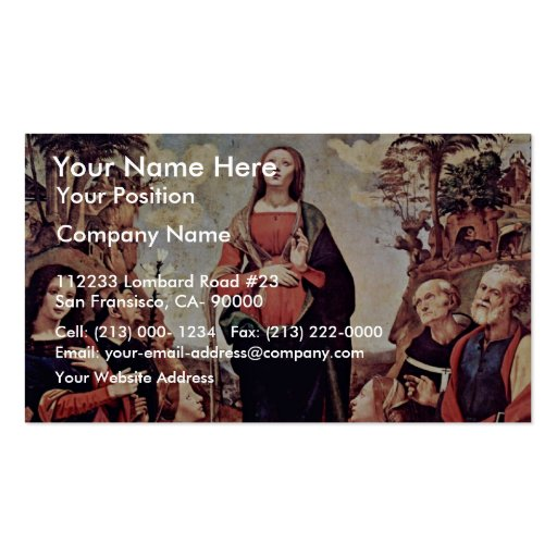 Mary And Saints: St. Catherine St. Margaret St. Jo Double-Sided Standard Business Cards (Pack Of 100)