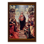 Mary And Saints: St. Catherine St. Margaret St. Jo Card