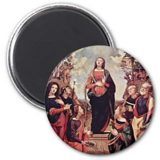 Mary And Saints: St. Catherine St. Margaret St. Jo Magnets