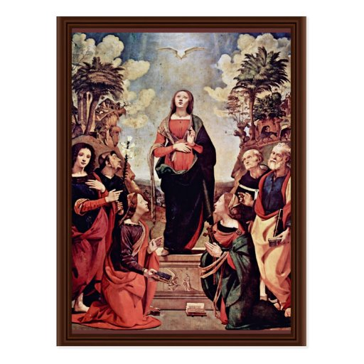 Mary And Saints: St. Catherine St. Margaret St. Jo Postcard