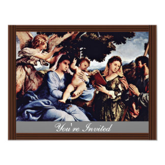 Mary And St. Catherine Of Alexandria St. James D. 4.25x5.5 Paper Invitation Card