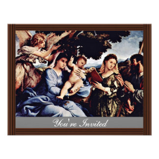 Mary And St. Catherine Of Alexandria St. James D. Personalized Invitations