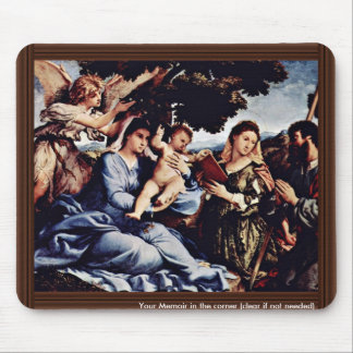 Mary And St. Catherine Of Alexandria St. James D. Mousepad