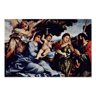 Mary And St. Catherine Of Alexandria St. James D. Poster