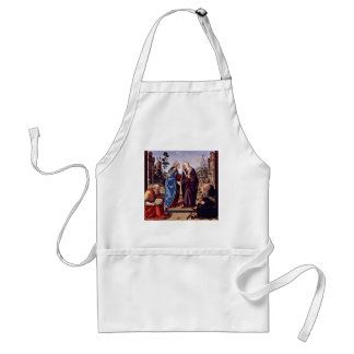 Mary And St. Elizabeth St. Nicholas And St. Anthon Aprons