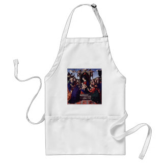 Mary And The Child Angels St. Catherine Of Alexand Adult Apron
