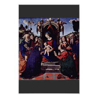 Mary And The Child Angels St. Catherine Of Alexand Poster