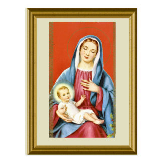 Mary and the child Jesus Postcard
