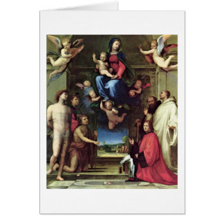 Mary And The Saints By Fra Bartolomeo Card