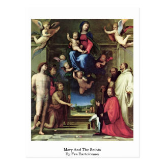 Mary And The Saints By Fra Bartolomeo Postcards