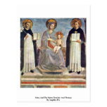 Mary And The Saints Dominic And Thomas Post Card