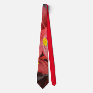 """Mary Ann's Red Begonias"" Tie"