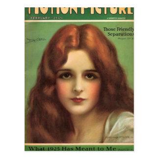 Mary Astor 1926 movie magazine Postcard
